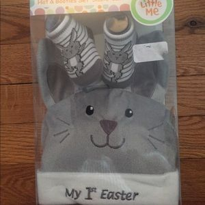 Little me my 1st Easter bunny hat booties set 0-12